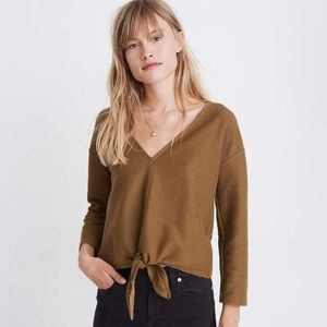 Madewell Tie Front Top- size large